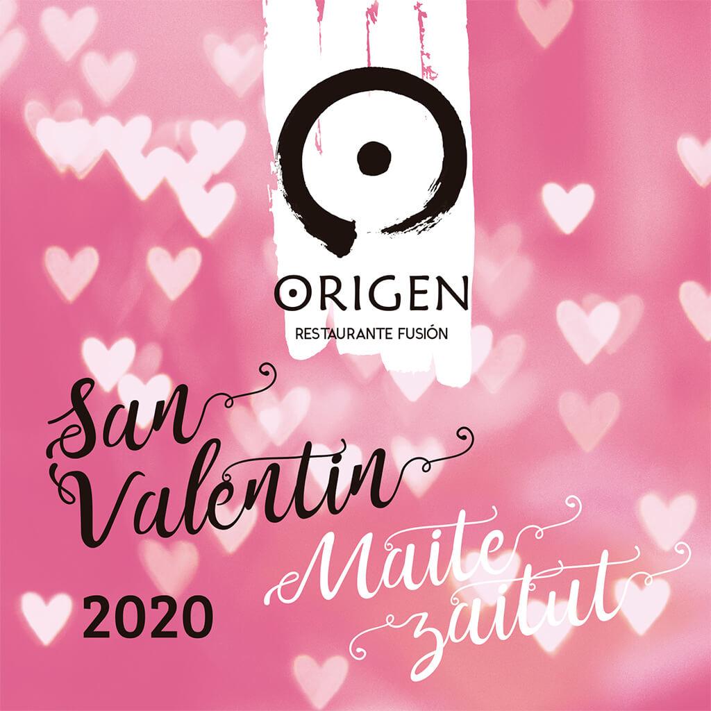Menú San Valentín 2020 en el Restaurante Origen de Bilbao