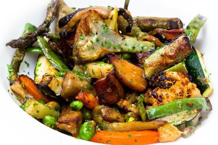 Parrillada de verduritas naturales - Restaurante Zarate de Bilbao