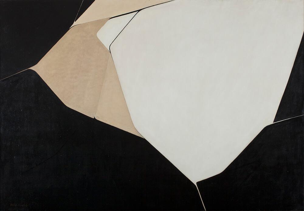 Pablo Palazuelo (Madrid, 1915- Galapagar, Madrid, 2007) Omphale I, 1962 Óleo sobre lienzo Museo Universidad de Navarra