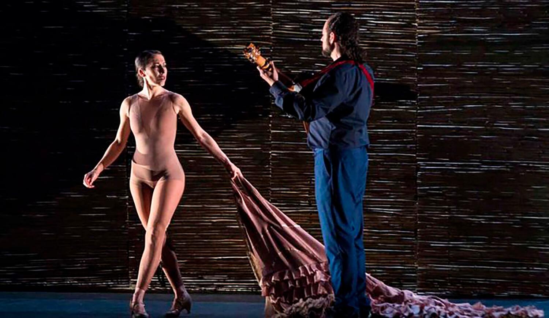 La bailaora Ana Morales en el Guggenheim Bilbao