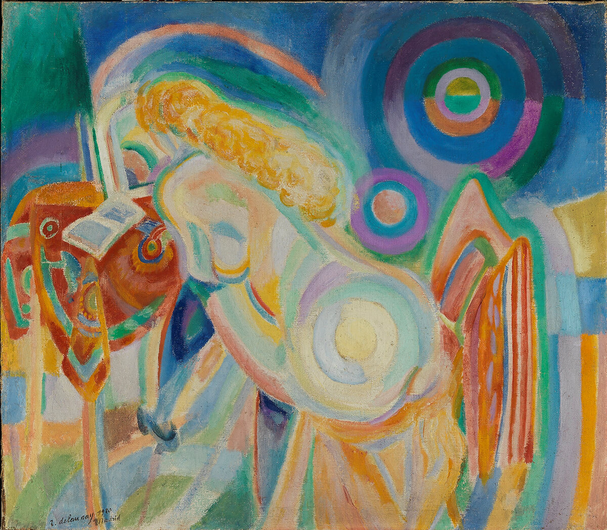 Robert Delaunay (1885-1941). Femme nue lisant (Mujer desnuda leyendo) (1920). Museo de Bellas Artes de Bilbao