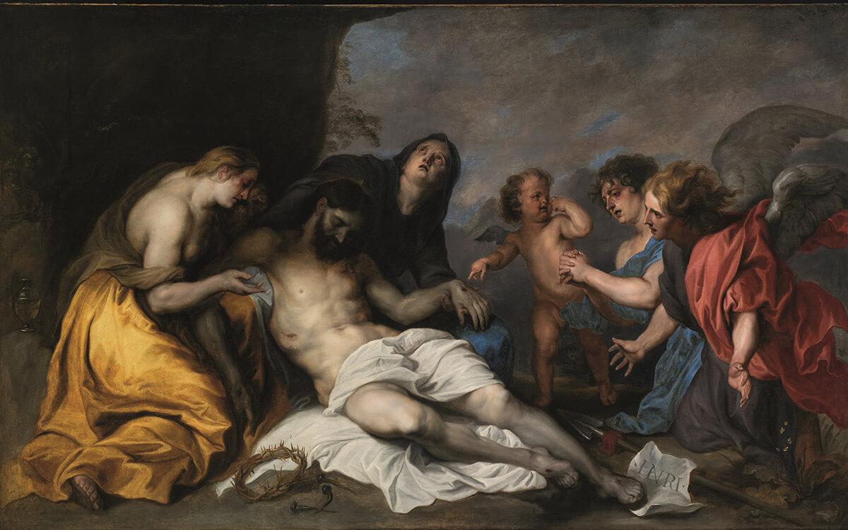 Anton van Dyck (1599-1641). Lamentación sobre Cristo muerto (c. 1627-1632). Museo de Bellas Artes de Bilbao