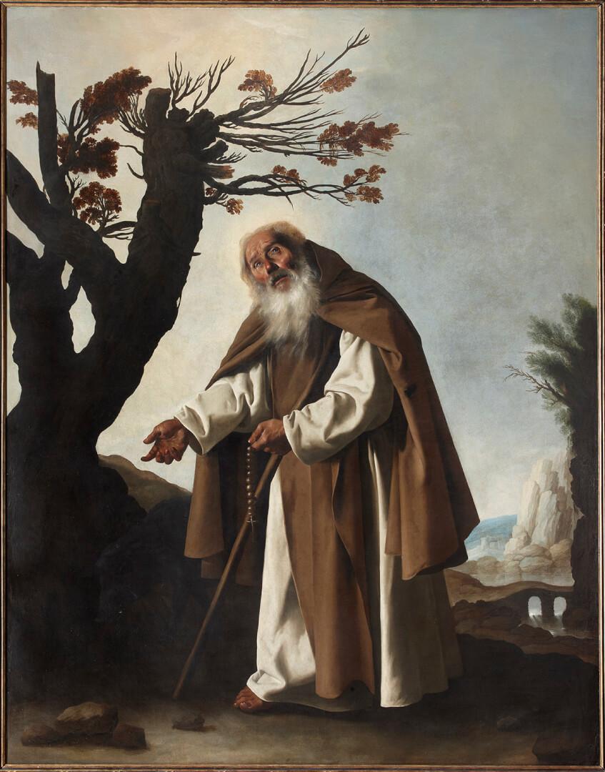 Francisco de Zurbarán (1598-1664). San Antonio Abad (1636). Colección particular