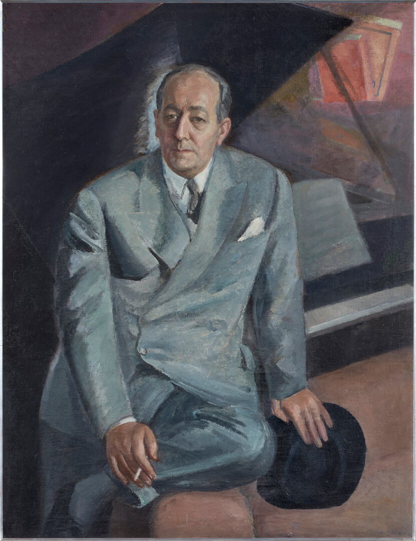 Daniel Vázquez Díaz (1882-1969). Retrato de Félix Fernández-Valdés (c. 1950). Colección de Rafael Botí