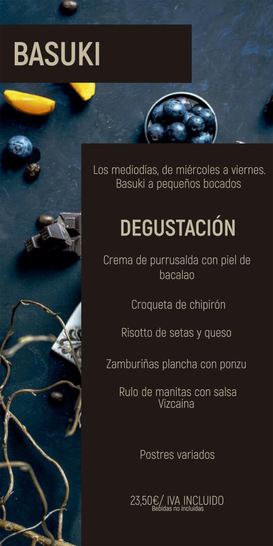 Menú Degustación Basuki Bilbao Noviembre 2020