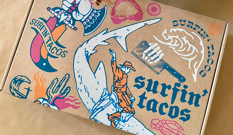 Caja Surfin Tacos
