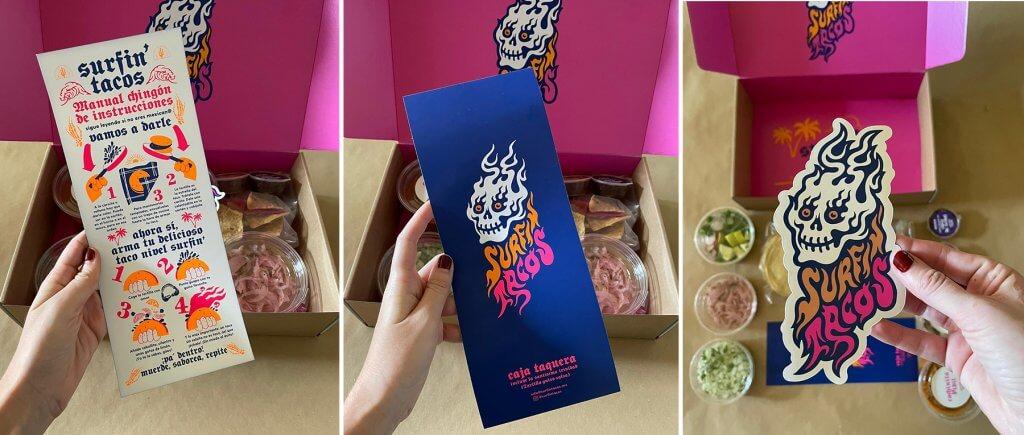 La caja taquera de Surfin' Tacos
