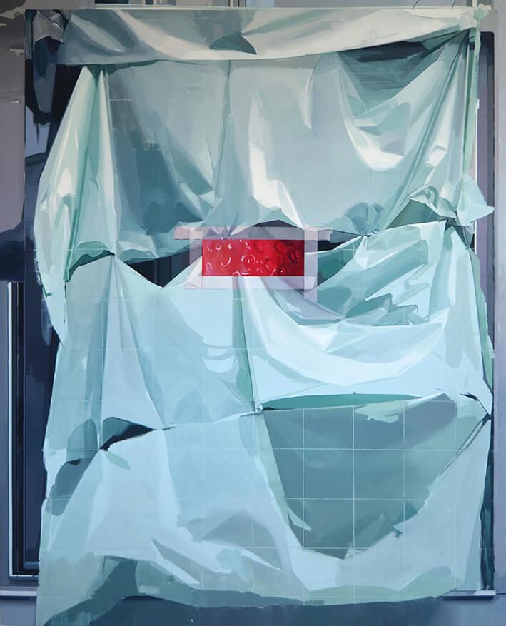 AMAYA SUBERVIOLA. 22:22 (2020). Óleo sobre lino. 126 x 100 cm.