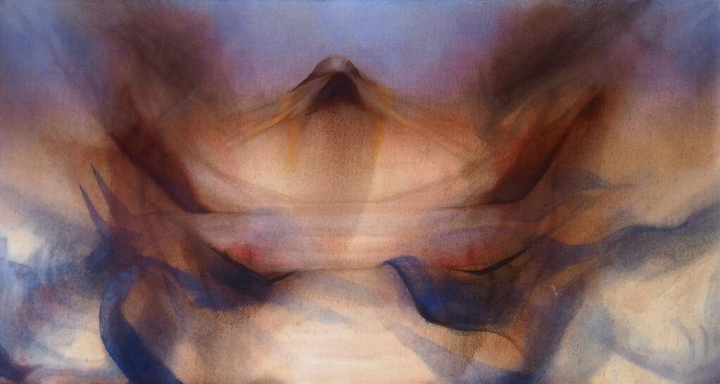 EZTIZEN LA CRUZ. SIN TÍTULO (2019). Óleo sobre tela sin imprimar. 98 x 142 cm.