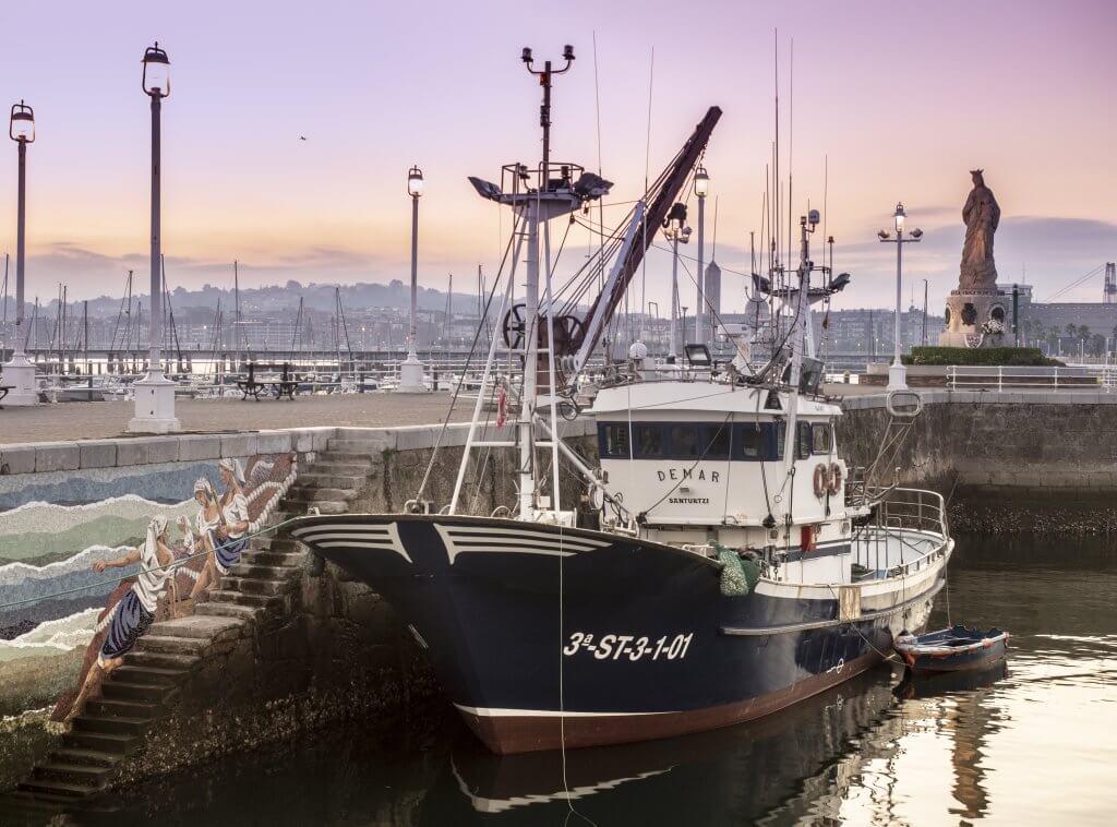 Puerto pesquero de Santurtzi