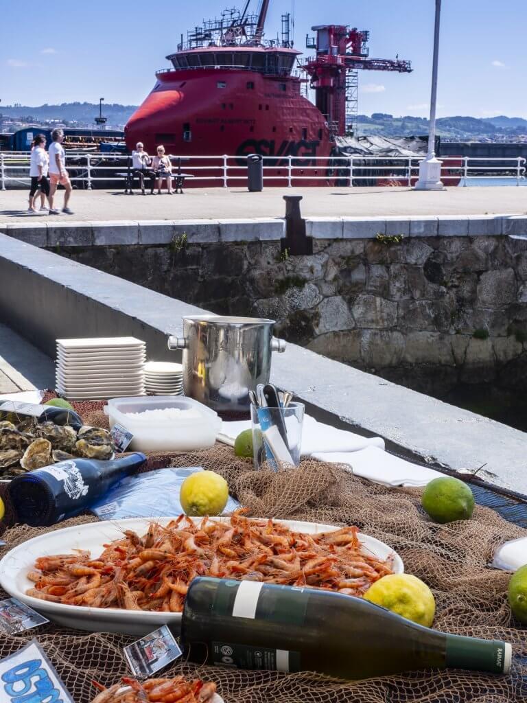 Ambiente en el Puerto de Santurtzi