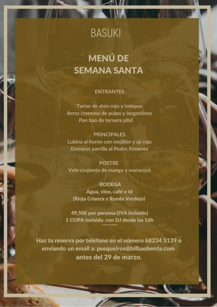 Menu Semana Santa Basuki Bilbao 2021