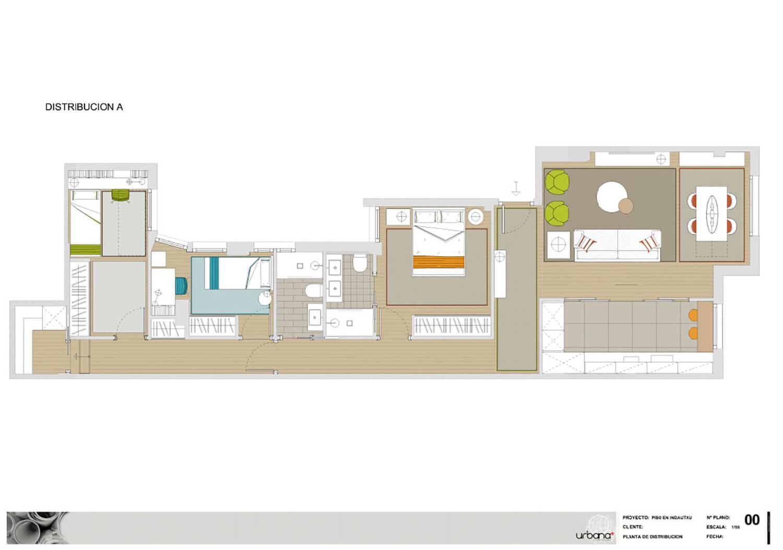 Distribución A. Proyecto Urbana Interiorismo