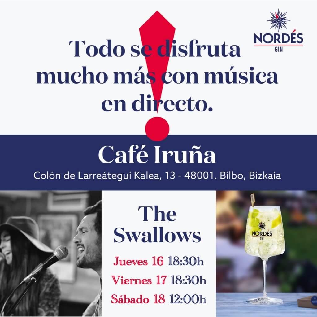 The Swallows en el Café Iruña de Bilbao