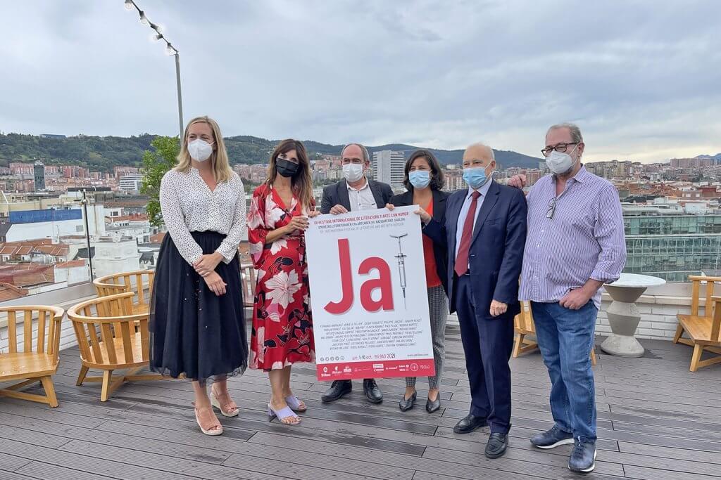 Presentación del Festival Ja! en la terraza del Hotel Ercilla. (Foto: Very Bilbao)