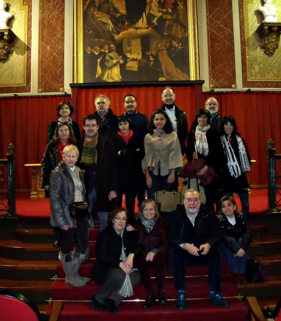 Visita a la Biblioteca de la Universidad de Deusto en Bilbao de socios de ALEA.